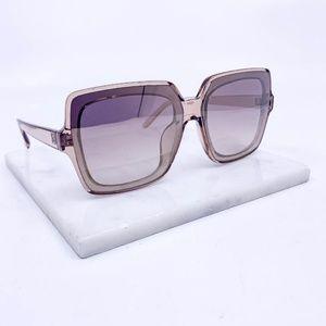 🆕Clear taupe frame smoky lens fashion sunglasses